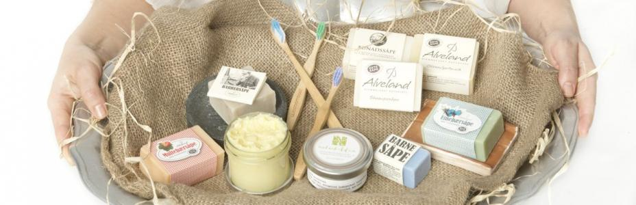 Ansikt & Kropp  hudkrem, deodorant, såper, bambustannbørster