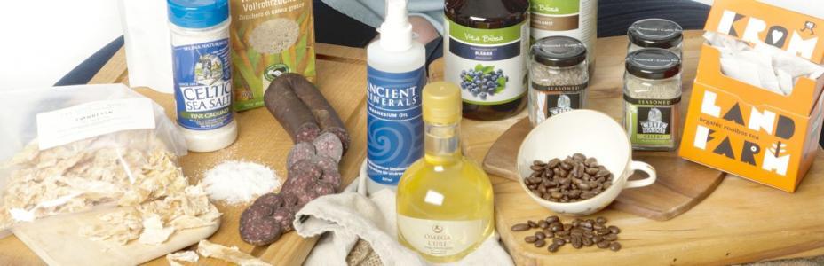 Mat & Tilskudd  spekemat, te, kaffe, salt, magnesiumolje, probiotika, omega-3