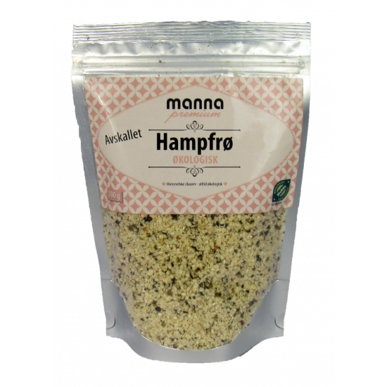 Økologisk hampfrø, avskallet, Manna Premium