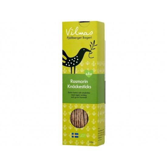 Økologisk og glutenfritt knekkebrød med rosmarin, Vilmas 120g