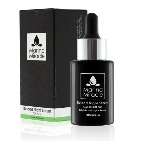 Ansiktsolje – Reload Night Serum – Marina Miracle – For MENN