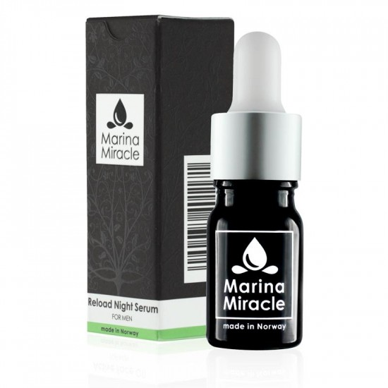 Ansiktsolje – Reload Night Serum – Marina Miracle – For MENN 5ml