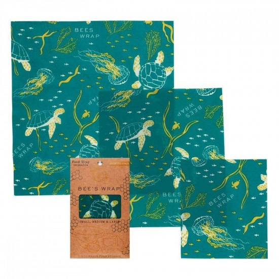 Bees Wrap - Assorted 3 pack Ocean Print