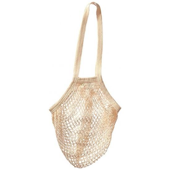 Ecobag handlenett beige m/lang hank