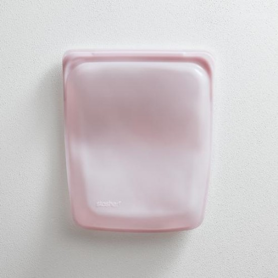 Stasher bag Half Gallon 1.92 L rose quartz
