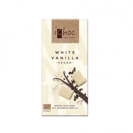 iChoc Økologisk hvit sjokolade m/vanilje, vegan