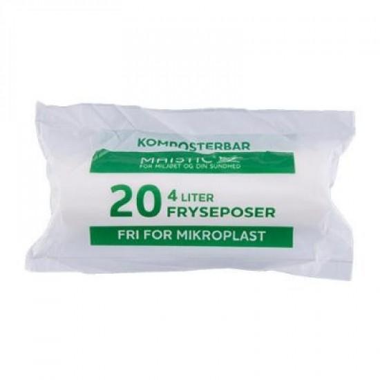 Komposterbare Fryseposer, 4L, 20 stk, Maistic