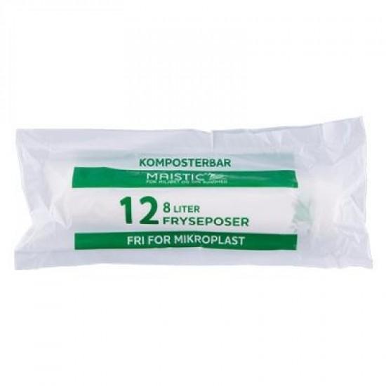 Komposterbare Fryseposer 8L, 12 stk, Maistic