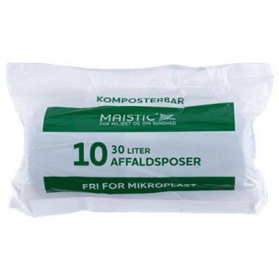Komposterbare søppelposer, 30L, 10 stk, Maistic