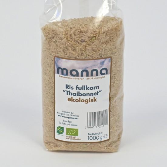 Økologisk ris, fullkorn og langkornet