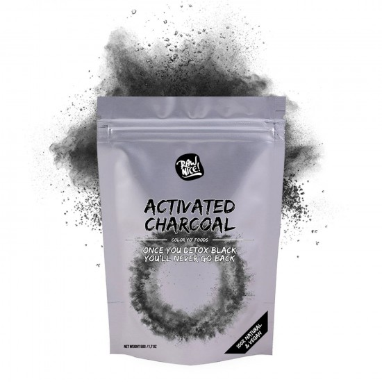 Rawnice activated charcoal pulver 50g
