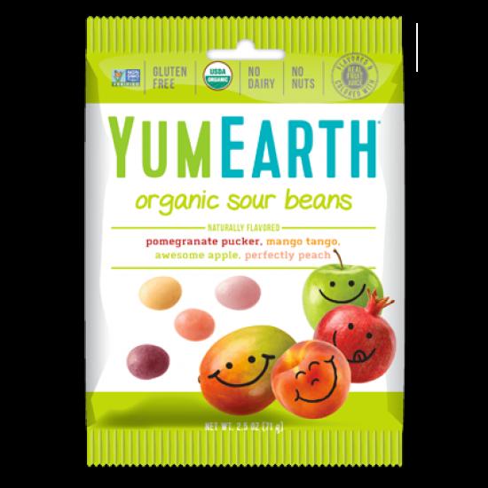 Økologisk Sour Beans 50g - YumEarth