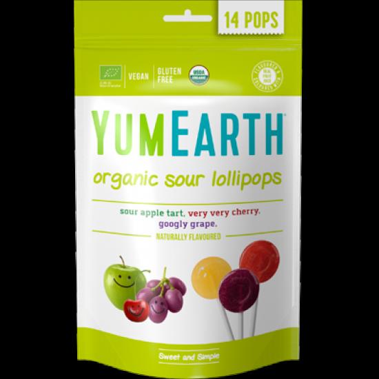 Organic Sour Lollipops - 14 stk - YumEarth