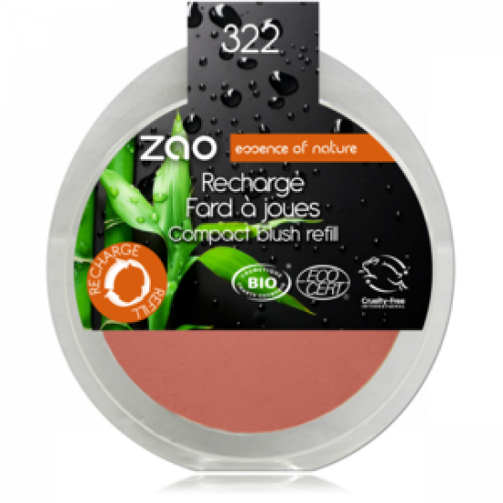 ZAO Compact Blush 322 Brown Pink – Refill