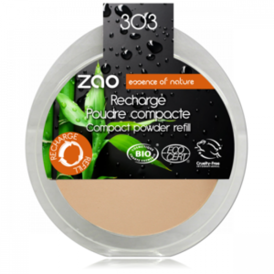 ZAO Compact Powder 303 Brown Beige – Refill