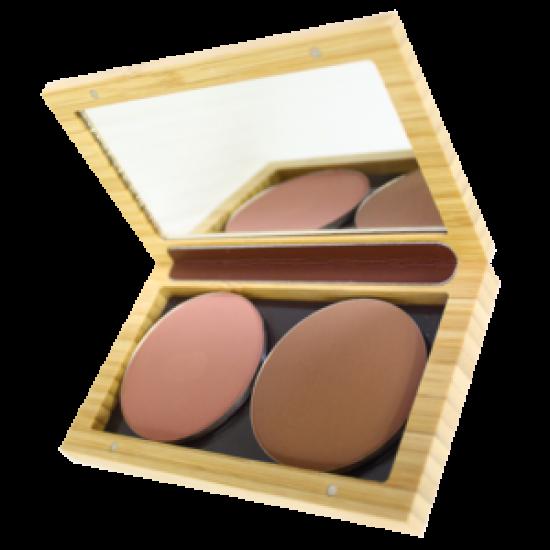 ZAO  magnetisk sminkeboks i bambus