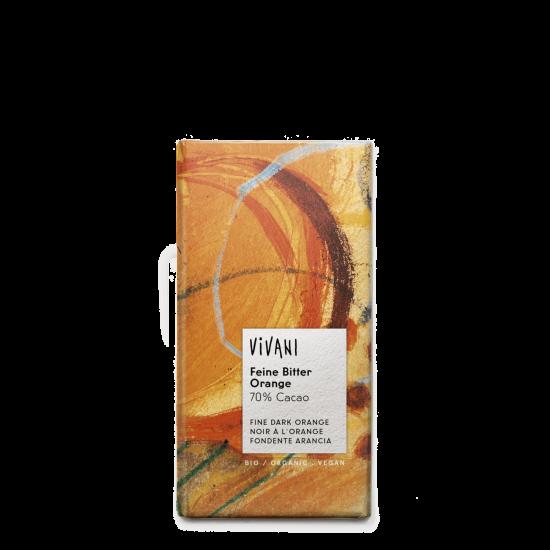 Vivani, mørk sjokolade (70%) med appelsin