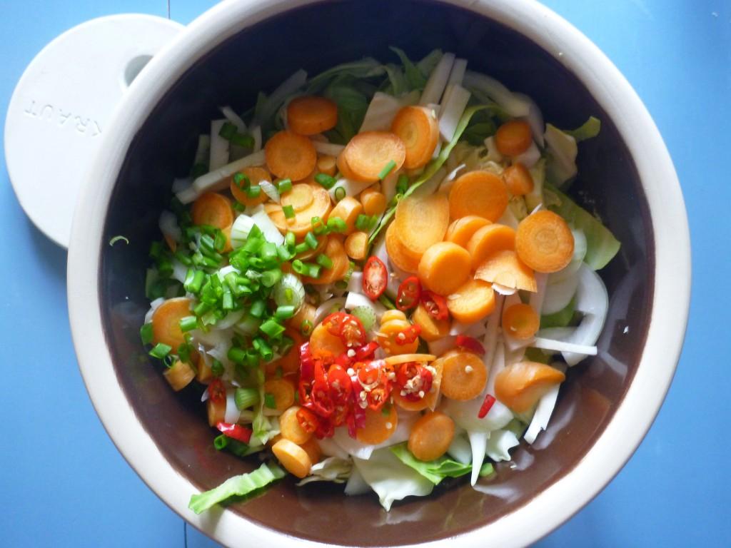 økologisk kimchi fermenteringskrukke
