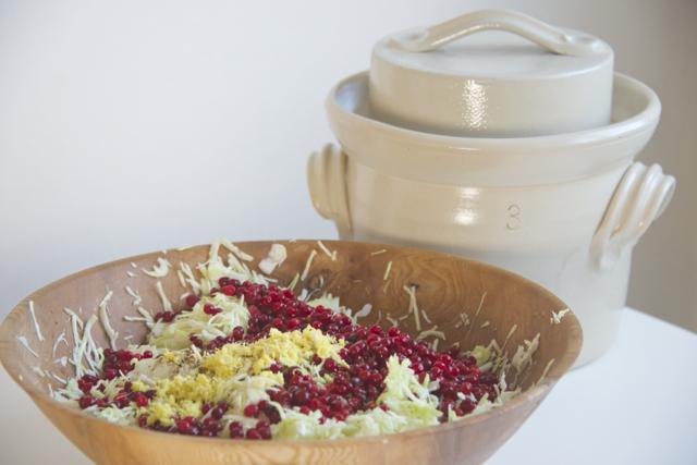 Melkesyregjæret kål fermenteringskrukke