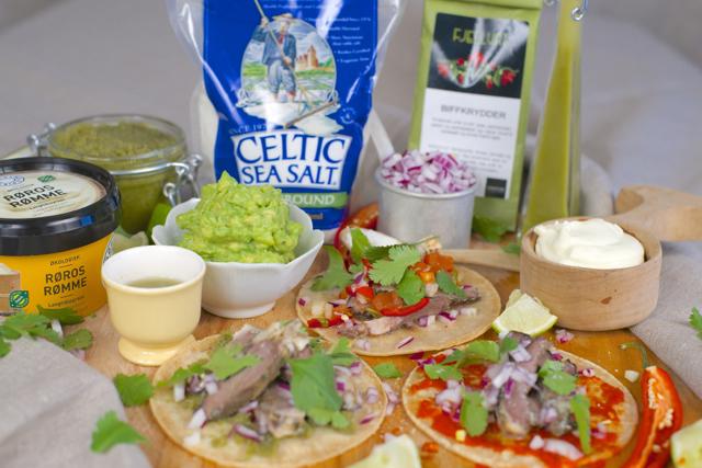 økologisk hjemmelaget taco lammehjerter