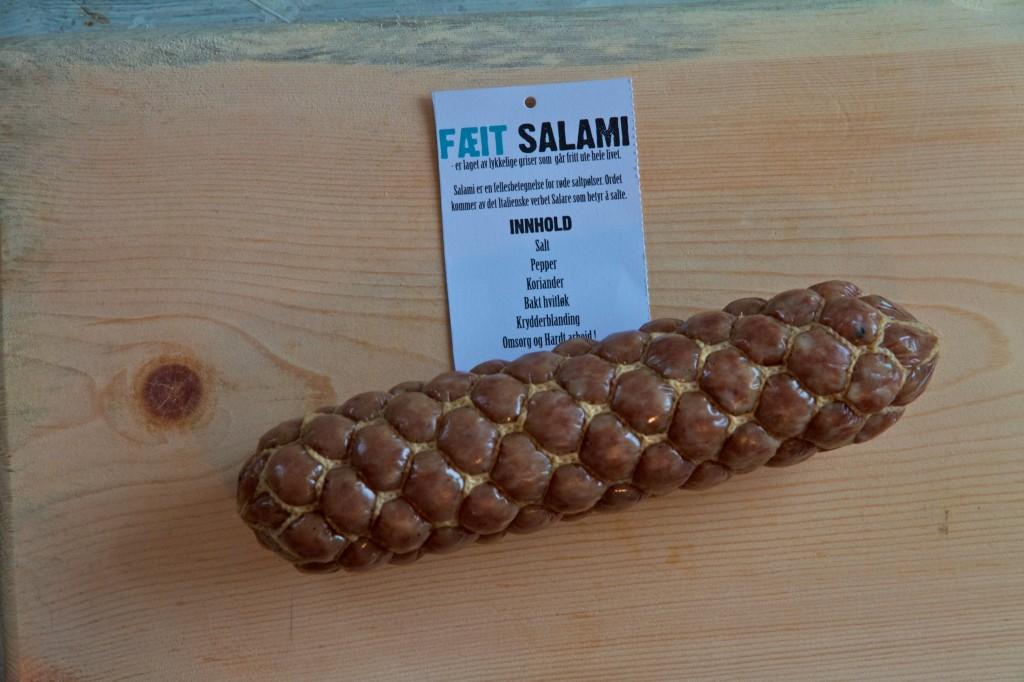 økologisk salami frilandsgris