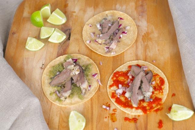 økologisk taco lammehjerter sambal oelek