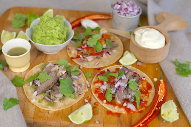 økologisk taco med lammehjerte