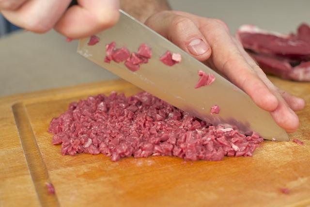 økologisk tartar lammehjerte kjøttdeig