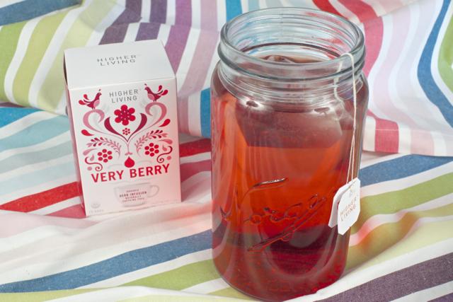 hjemmelaget iste økologisk very berry te