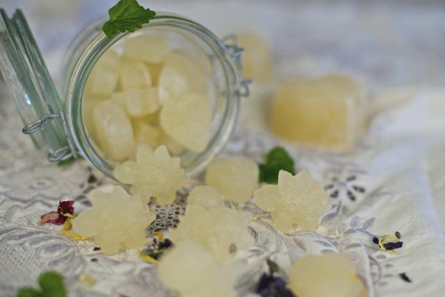 Sunt godteri med fermentert lemonade og gelatin