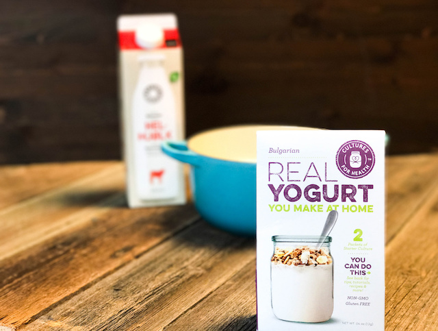 hjemmelaget yoghurt med økologisk melk